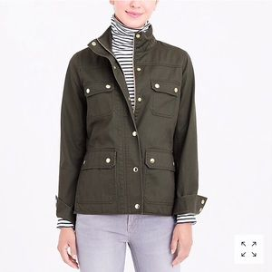 J Crew Resin-coated twill jacket